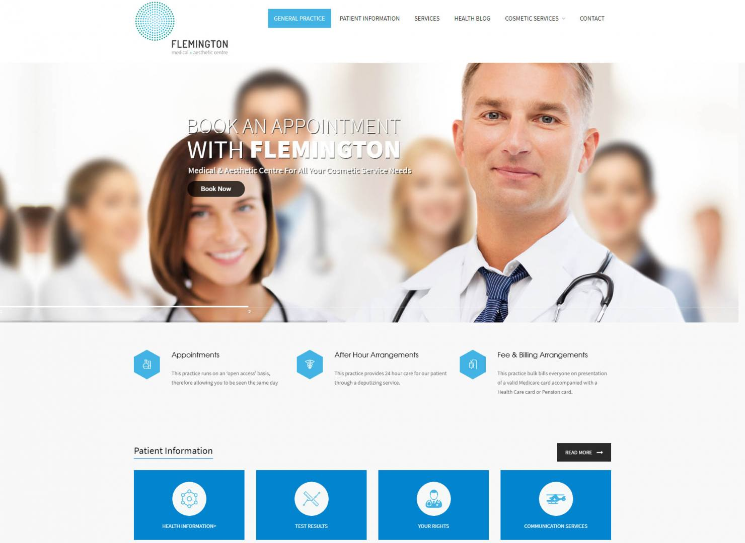 Flemington Medical – COMFUSION Web Development